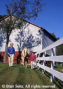Horse Care Training, Horse Trainer, Trainer and 9-year-old-child, Horse Farm, Perry County, PA
