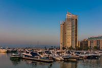 Zaitunay Bay marina in Beirut capital city of Lebanon Middle east