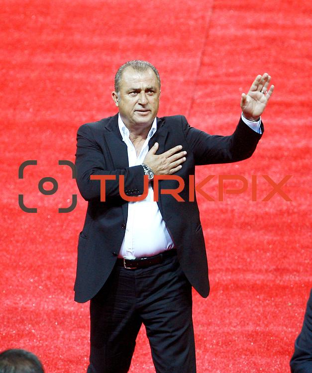 Galatasaray's coach Fatih Terim during their Turkish superleague soccer derby match Galatasaray between Trabzonspor at the AliSamiYen spor kompleksi TT Arena in Istanbul Turkey on Saturday, 18 May 2013. Photo by Aykut AKICI/TURKPIX