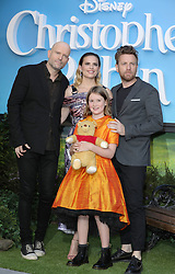 (Left to right) Director Marc Forster, Hayley Atwell, Bronte Carmichael and Ewan McGregor attend the European premiere of Christopher Robin at the BFI Southbank in London.