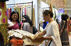 September 30, 2018 - Guwahati, Assam, India - Customers visit a stall during an exhibition of 'The Smarticians Season 04' at Vivanta by Taj in Guwahati, Assam, India on Sunday, Sept 30, 2018. (Credit Image: © David Talukdar/NurPhoto/ZUMA Press)
