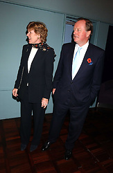 ANDREW PARKER BOWLES and his wife ROSEMARY PARKER BOWLES at a party to celebrate the publication of 'E is for Eating' by Tom Parker Bowles held at Kensington Place, 201 Kensington Church Street, London W8 on 3rd November 2004.<br />