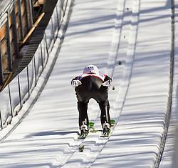06.02.2011, Heini Klopfer Skiflugschanze, Oberstdorf, GER, FIS World Cup, Ski Jumping, Teamwettbewerb, Probedurchgang, im Bild Peter Prevc (SOL) , during ski jump at the ski jumping world cup Trail round in Oberstdorf, Germany on 06/02/2011, EXPA Pictures © 2011, PhotoCredit: EXPA/ P. Rinderer