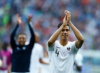 Raphael Varane (France) greeting the supporters <br /> Nizhny Novgorod 06-07-2018 Football FIFA World Cup Russia  2018 Uruguay - France / Uruguay - Francia <br /> Foto Matteo Ciambelli/Insidefoto