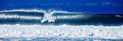 Stylized photographic art of Surfer at Banzai Pipeline