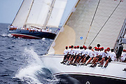 Ranger sailing in the Cannon Race at the Antigua Classic Yacht Regatta.