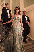 VISCOUNT LINLEY; ALINA BREZHENEVA, Professor Mikhail Piotrovsky Director of the State Hermitage Museum, St. Petersburg and <br /> Inna Bazhenova Founder of In Artibus and the new owner of the Art Newspaper worldwide<br /> host THE HERMITAGE FOUNDATION GALA BANQUET<br /> GALA DINNER <br /> Spencer House, St. James's Place, London<br /> 15 April 2015