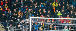 Partick Thistle's fans after Blair Spittal misses a late chance. Falkirk 1 v 1 Partick Thistle, Scottish Championship game played 17/11/2018 at The Falkirk Stadium.