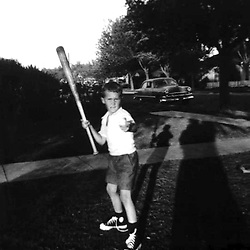 HS574  George W. Bush with bat and ball, Midland, TX, June 1953.<br /> Photo Credit:  George Bush Presidential Library