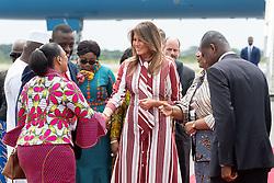 October 2, 2018 - Accra, Ghana, West Africa - First Lady Melania Trump at Kotoka International Airport in Accra, Ghana. (Credit Image: ? Andrea Hanks/White House via ZUMA Wire/ZUMAPRESS.com)