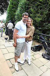 KENNY LOGAN and GABBY LOGAN at the Mini Masters Golf tournament in aid of LEUKA - London's first celebrity golf tournament held at Duke's Meadow Golf Club, Dan Mason Drive, London W4 on 14th July 2008.<br /> <br /> NON EXCLUSIVE - WORLD RIGHTS