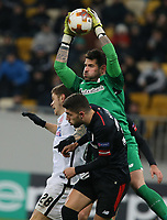 LVIV, UKRAINE - DECEMBER 07: Iago Herrerín, goalkeeper of Athletic Bilbao.  UEFA Europa League Group J match between Zorya Luhansk and Athletic Bilbao at Arena Lviv in Lviv, Ukraine. December 07, 2017