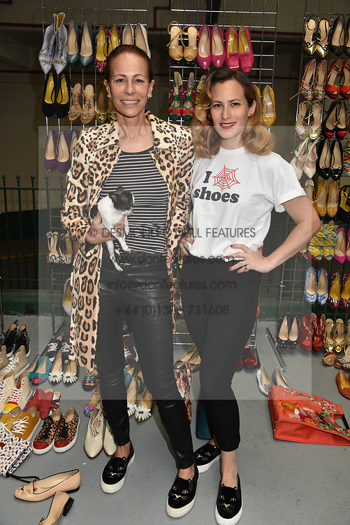 Left to right, Andrea Dellal and her daughter Charlotte Olympia at the #SheInspiesMe Car Boot Sale in aid of Women for Women International held Brewer Street Car Park, Soho, London England. 6 May 2017.<br /> Photo by Dominic O'Neill/SilverHub 0203 174 1069 sales@silverhubmedia.com