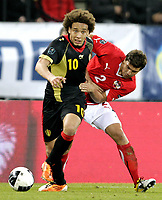 Fotball<br /> EM-kvalifisering<br /> Østerrike v Belgia<br /> 25.03.2011<br /> Foto: Gepa/Digitalsport<br /> NORWAY ONLY<br /> <br /> Bild zeigt Axel Witsel (BEL) und Aleksandar Dragovic (AUT).