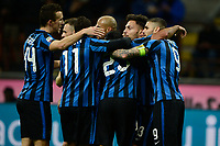 Esultanza gol Danilo D'Ambrosio Inter 1-0. Celebration goal<br /> Milano 20-02-2016 Stadio Giuseppe Meazza - Football Calcio Serie A Inter - Sampdoria. Foto Giuseppe Celeste / Insidefoto