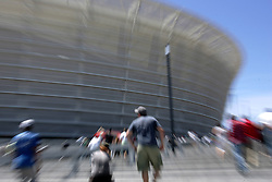 Fans arrive during the Festival of Rugby match between The Boland Cavaliers and The Stormers held at The Cape Town Stadium (formerly Green Point Stadium) in Cape Town, South Africa on 6 February 2010.  This is the first match/event to be held at the new stadium which was purpose built to host matches during the FIFA World Cup South Africa 2010.Photo by: Ron Gaunt/SPORTZPICS