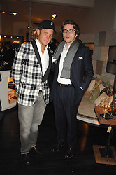 Left to right, LAPO ELKANN and GIULIO SALOMONE MD Fiat Auto UK at a party hosted by Allegra Hicks to launch Lapo Elkann's fashion range in London held at Allegra Hicks, 28 Cadogan Place, London on 14th November 2007.<br /><br />NON EXCLUSIVE - WORLD RIGHTS