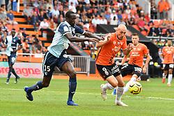 July 28, 2018 - France - Courtet Gaetan (FC Lorient) - CAMARA Samba  (Credit Image: © Panoramic via ZUMA Press)