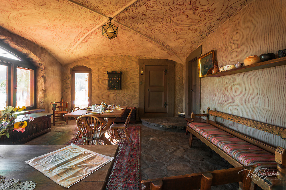 Dining room at Vikingsholm castle, Emerald Bay State Park, Lake Tahoe, California USA