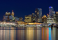 The Trade and Convention Center and the skyline of Vancouver, British Columbia, Canada