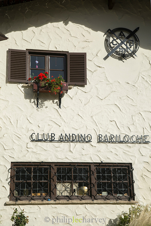 Close-up of Club Andino Bariloche - mountaineering organization based in San Carlos de Bariloche, in Argentinian Andes