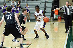 27 November 2015: Normal Community West Wildcats v Bloomington High Raiders,  Intercity Boys Basketball at Shirk Center, Bloomington IL