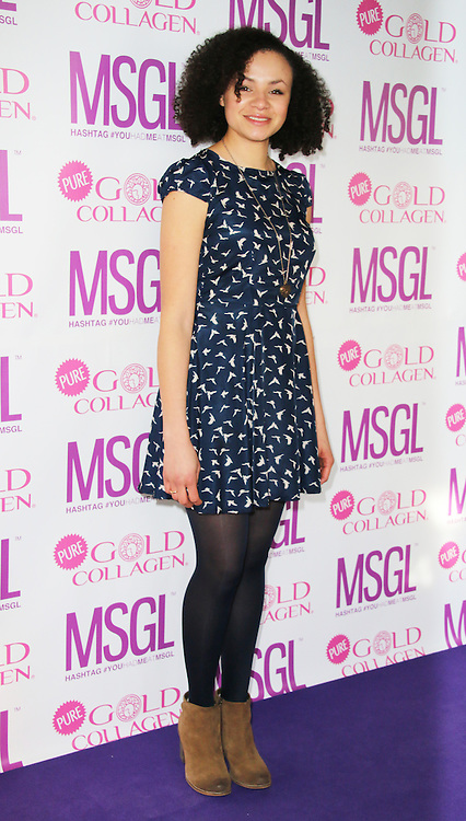Carlyss Peer, MediaSKIN Gifting Lounge, No1 Leicester Square, London UK, 20 January 2014, Photo by Richard Goldschmidt