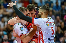 18-05-2019 GER: CEV CL Super Finals Zenit Kazan - Cucine Lube Civitanova, Berlin<br /> Civitanova win the Champions League by beating Zenit in four sets / Fabio Balaso #17 of Cucine Lube Civitanova, Osmany Juantorena Portuondo #5 of Cucine Lube Civitanova