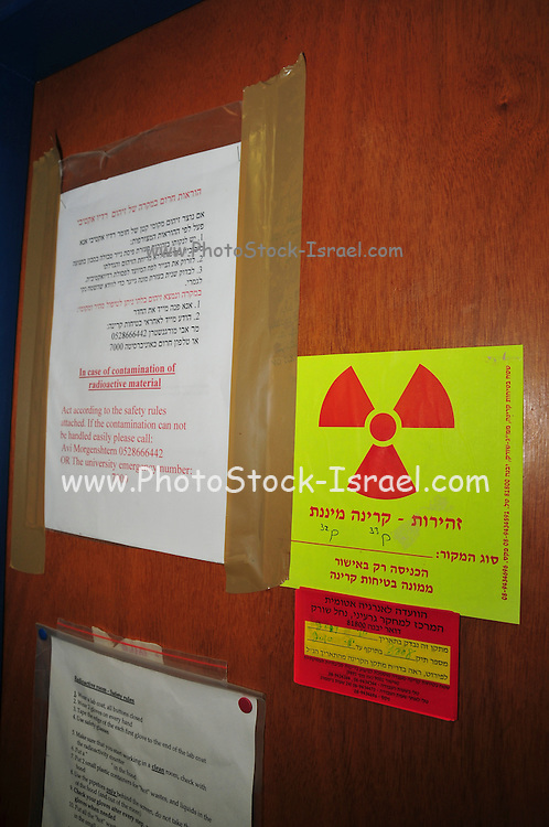 Research Laboratory radiation warning sign