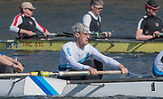 """Mortlake/Chiswick, GREATER LONDON. United Kingdom. """"Concetration"""", """"Kick it up""""<br /> Broxbourne Rowing Club<br /> MasE.8+, competing at the 2017 Vesta Veterans Head of the River Race, The Championship Course, Putney to Mortlake on the River Thames.<br /> <br /> <br /> Sunday  26/03/2017<br /> <br /> [Mandatory Credit; Peter SPURRIER/Intersport Images]"""