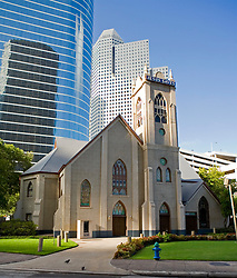 Stock photo of Historical Antioch Missionary Baptist Church in downtown Houston.