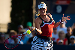 August 28, 2018 - Timea Babos of Hungary in action during the first round of the 2018 US Open Grand Slam tennis tournament. New York, USA. August 28th 2018. (Credit Image: © AFP7 via ZUMA Wire)