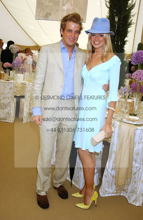 EDWARD LAWSON-JOHNSTON and ISABELLA ANSTRUTHER-GOUGH-CALTHORPE at the 2005 Cartier International Polo between England & Australia held at Guards Polo Club, Smith's Lawn, Windsor Great Park, Berkshire on 24th July 2005.<br /><br />NON EXCLUSIVE - WORLD RIGHTS