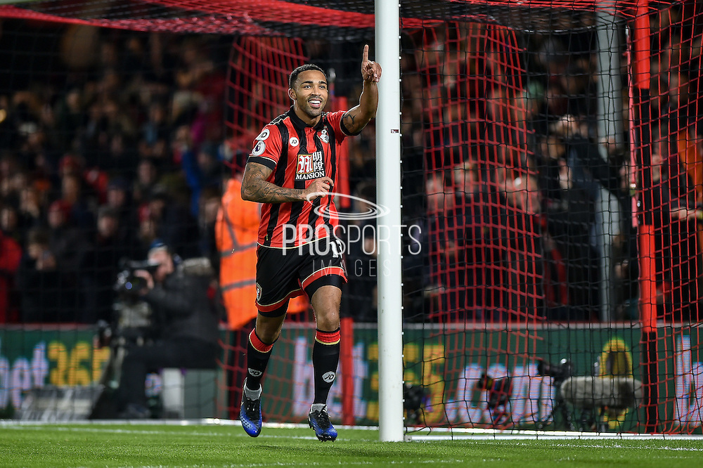 AFC Bournemouth Forward, Callum Wilson (13) scores a penalty goal to make it 2-0 during the Premier League match between Bournemouth and Arsenal at the Vitality Stadium, Bournemouth, England on 3 January 2017. Photo by Adam Rivers.