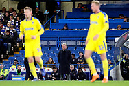 AFC Wimbledon manager Wally Downes watching from the side line during the EFL Trophy match between U21 Chelsea and AFC Wimbledon at Stamford Bridge, London, England on 4 December 2018.