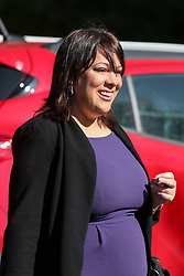 © Licensed to London News Pictures. 03/05/2017. Batley, UK. Labour MP for Dewsbury Paula Sherriff at an event in Batley, West Yorkshire, to launch Labour's policy on healthcare and the NHS during the 2017 general election campaign. He promised that Labour would immediately stop proposed A&E and hospital closures across England. Photo credit : Ian Hinchliffe/LNP