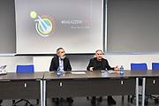 """Marco Crespi, Giovanni Petrucci<br /> Conferenza Stampa Presentazione Progetto """"Ragazze in Tiro""""<br /> FIP 2018<br /> Milano, 30/03/2018<br /> Foto F. Bertani / Ciamillo - Castoria"""