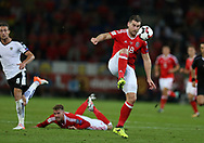 Sam Vokes of Wales in action. Wales v Austria , FIFA World Cup qualifier , European group D match at the Cardiff city Stadium in Cardiff , South Wales on Saturday 2nd September 2017. pic by Andrew Orchard, Andrew Orchard sports photography