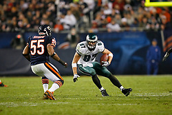Philadelphia Eagles tight end Brent Celek #87 carries the ball during the NFL game between the Philadelphia Eagles and the Chicago Bears on November 22nd 2009. The Eagles won 24-20 at Soldier Field in Chicago, Illinois. (Photo By Brian Garfinkel)