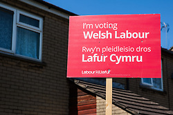 Cardiff, UK. 2nd May, 2017. A Cardiff Council election sign for Welsh Labour is pictured in the constituency of Butetown.