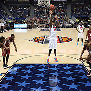Yanick Moreira, SMU, shoots a free throw during the Temple Vs SMU Semi Final game at the American Athletic Conference Men's College Basketball Championships 2015 at the XL Center, Hartford, Connecticut, USA. 14th March 2015. Photo Tim Clayton