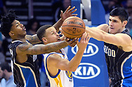 during the second half of an NBA basketball game in Orlando, Fla., Thursday, Feb. 25, 2016. The Warriors won 130-114. (AP Photo/Phelan M. Ebenhack)