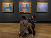 Houses of Parliament Sunset, 1904, and other London paintings - The Credit Suisse Exhibition: Monet & Architecture a new exhibition in the Sainsbury Wing at The National Gallery.
