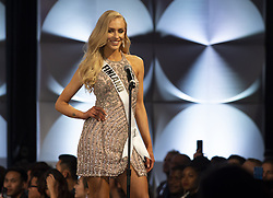 December 6, 2019, Atlanta, GA: Anni Harjunpaa , 23, introduces herself as preliminary duding for the 2019 Miss Universe pageant begins. She hadnt entered any beauty pageants  until this year, when she was crowned Miss Finland. (Credit Image: © Robin Rayne/ZUMA Wire)