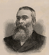 Walter Besant (1836-1901) English social reformer, novelist and editor, born at Portsmouth, Hampshire.  First chairman of the Society of Authors (1884).  Wood engraving 1895.