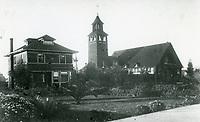 1907 Blessed Sacrament Church on SE corner of Hollywood Blvd. & Cherokee