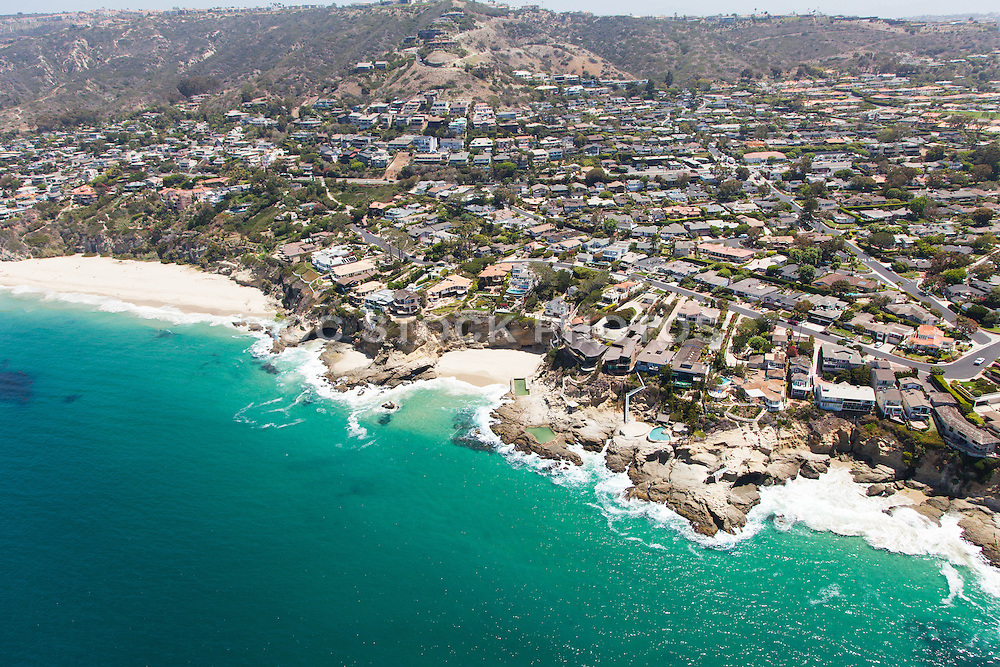 Aerial Stock Photo of Laguna Beach California