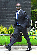 © Licensed to London News Pictures. 21/05/2013. Westminster, UK. Sam Gyimah MP and Parliamentary Private Secretary to the British Prime Minister David Cameron.  Ministers arrive for a Cabinet meeting at Downing Street today 21 May 2013. Photo credit : Stephen Simpson/LNP