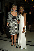EMILY MAITLIS AND PHOEBE VELA, The Spectator 180th Anniversary party, at the Churchill Hotel, London, 7 May 2008.  *** Local Caption *** -DO NOT ARCHIVE-© Copyright Photograph by Dafydd Jones. 248 Clapham Rd. London SW9 0PZ. Tel 0207 820 0771. www.dafjones.com.