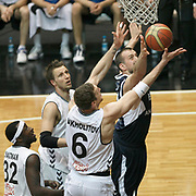 Efes Pilsen's Nikola VUJCIC (R) during their Turkish Basketball league derby match Besiktas between Efes Pilsen at the BJK Akatlar Arena in Istanbul Turkey on Saturday 30 April 2011. Photo by TURKPIX